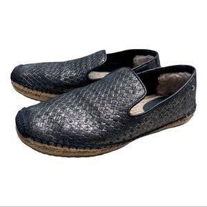 UGG Metallic Espadrilles Basket Shoe Size 7